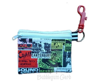 Grunge small pouch, mask pouch, clip on pouch. 4x5in