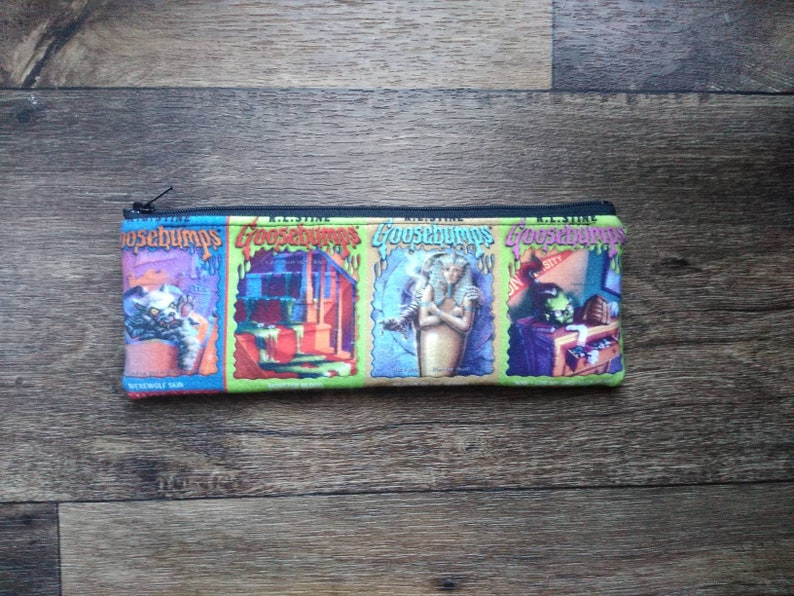Goosebumps book covers pencil pouch/bag. please read full image 0