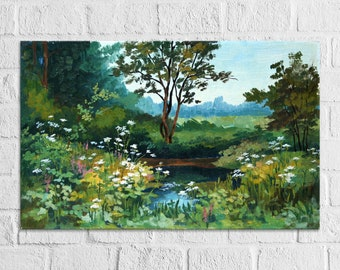 Custom Oil Painting Original Commission Art Painting From Photo Landscape Nature Flowers Custom Painting on Canvas Landscape From Photo