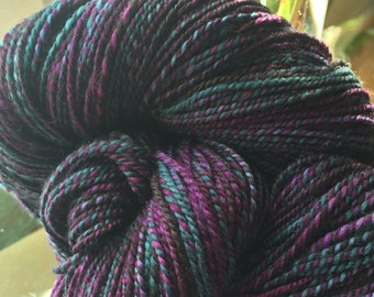 READY TO SHIP! - 422 Yards Polwarth Roving in Twilight