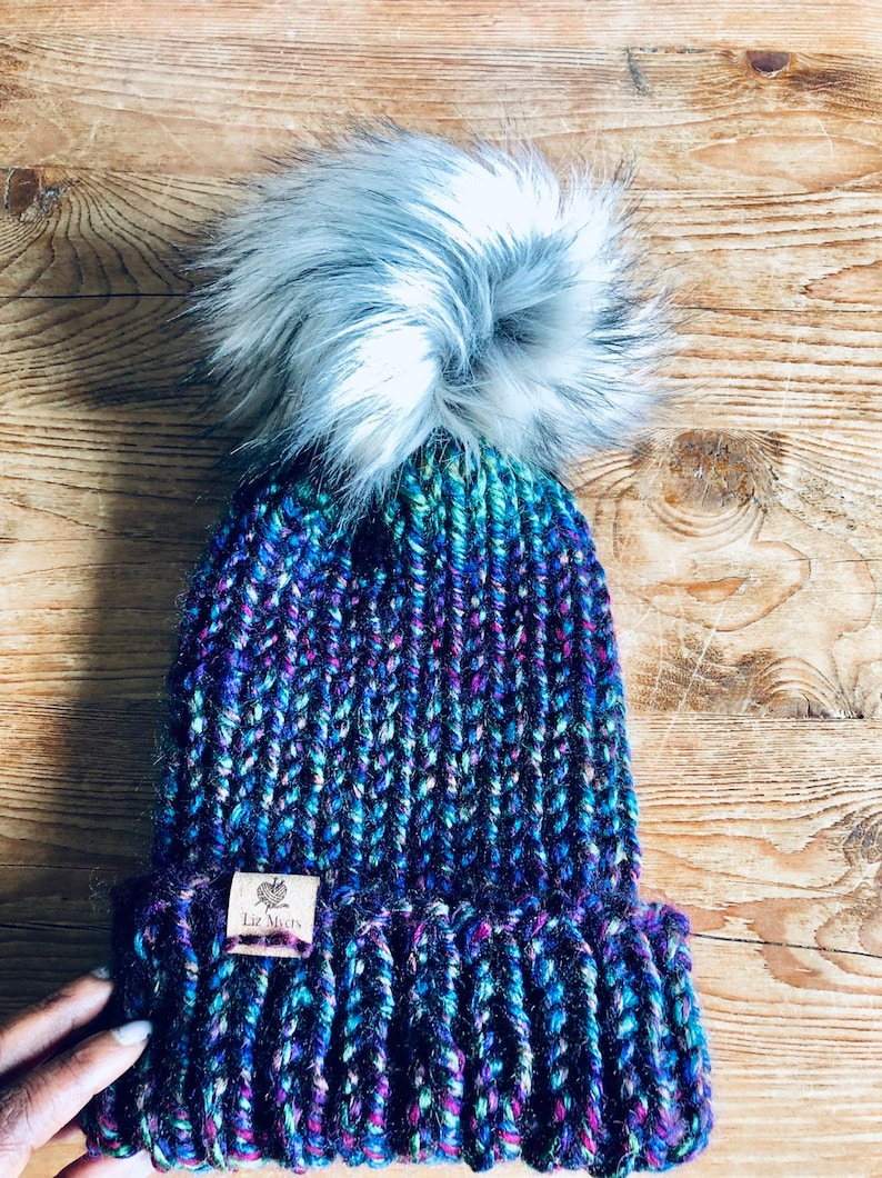 Manitoba Blue  Knit Winter Beanie image 0