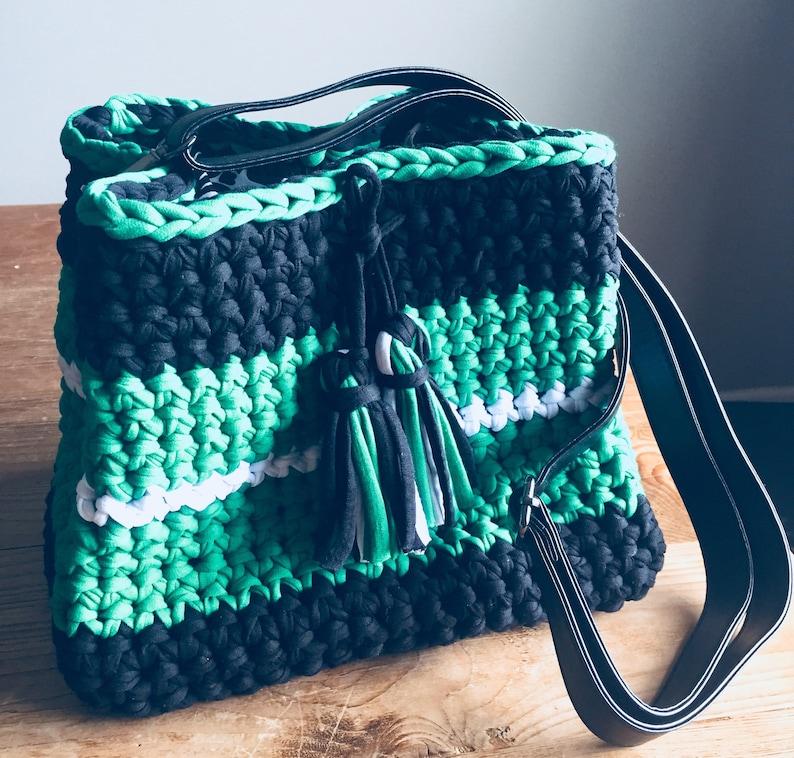 The Essential Bucket Shoulder Bag  Crocheted Bag image 0