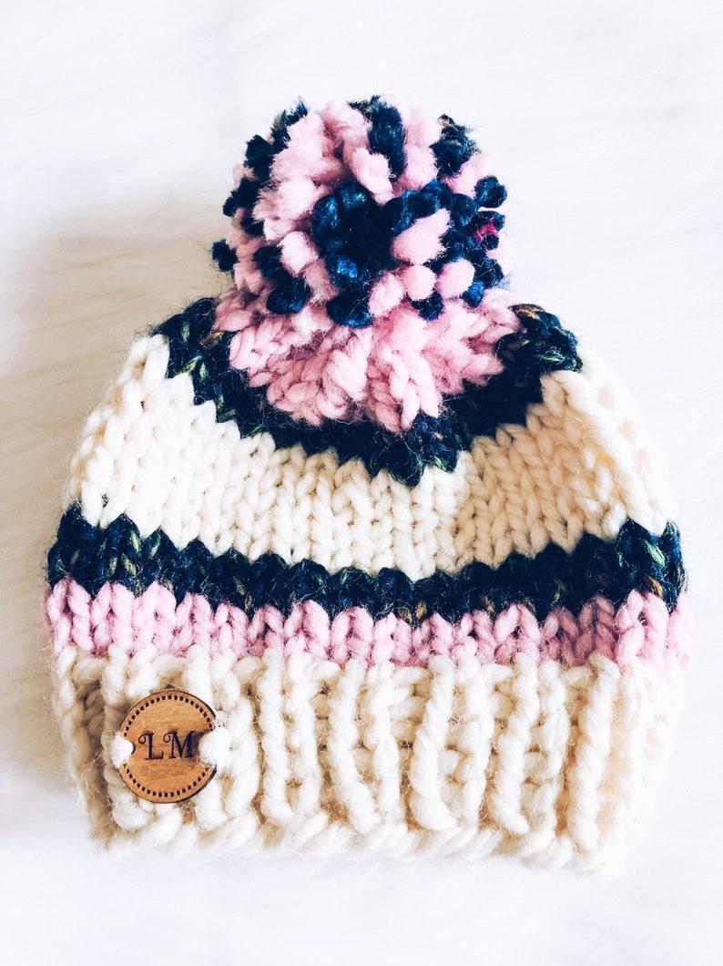 Toboggan Baby  0-3 months Knit Hat image 0