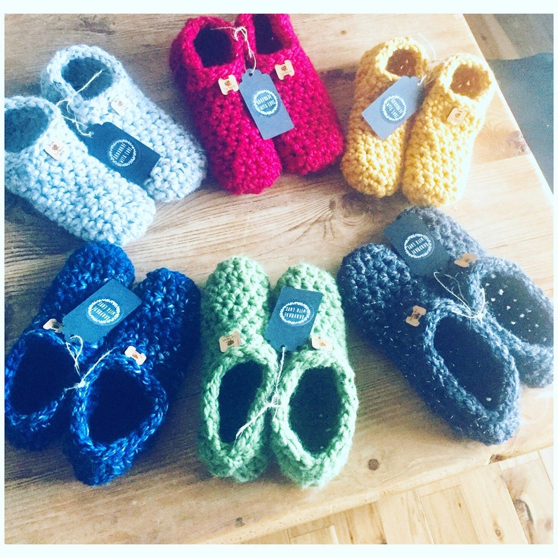 Crocheted Slippers  Handmade Crocheted Slippers image 0
