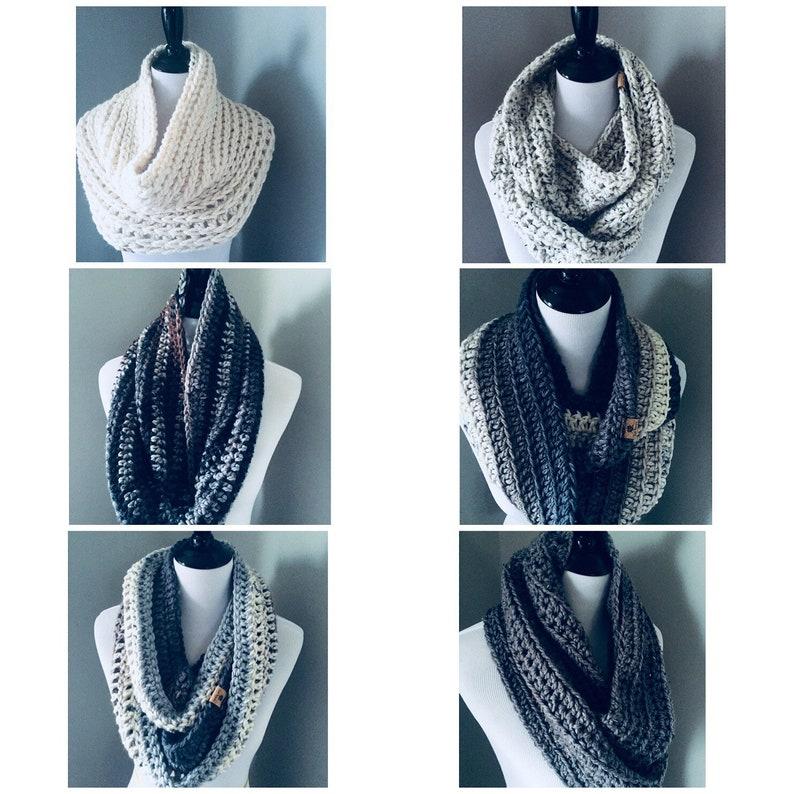 Infinity Scarf  Handmade Crocheted Scarf image 0