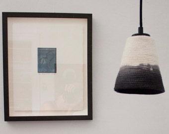 Rope lampshade dip-dye black (small)