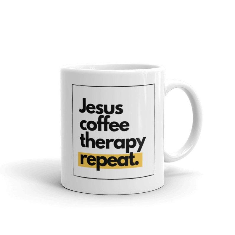 Jesus Coffee Therapy Mug image 0
