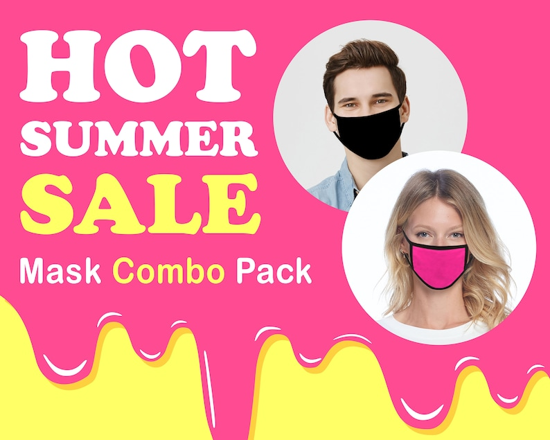 BULK PACK Cotton Face Mask with Nose Wire Filter Pocket | Reusable Washable Breathable | Wholesale | Made in USA by ToughCookieClothing photo