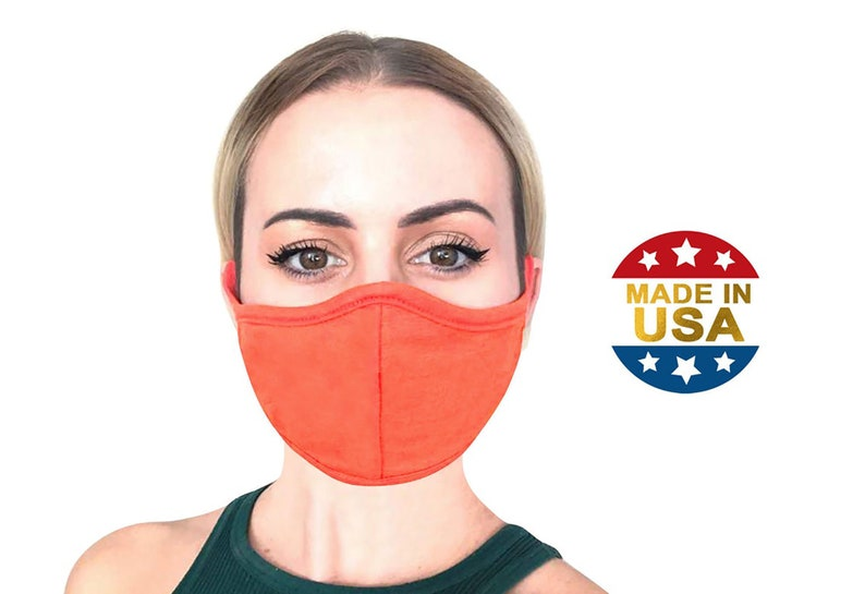 BULK PACK l Face Mask with Nose Wire Filter Pocket l Linen & Triblend, 3D Cloth Face Mask, Washable l Made in USA by ToughCookieClothing photo
