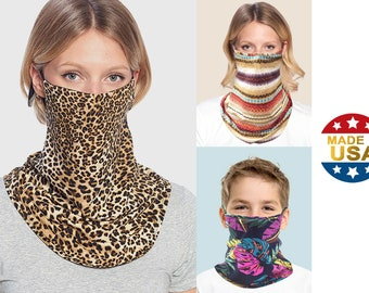 Face Cover Neck Gaiter Bandana Scarf | Adult & Kids Unisex | 2-Layer Cotton | Made in USA by Tough Cookie ToughCookieClothing