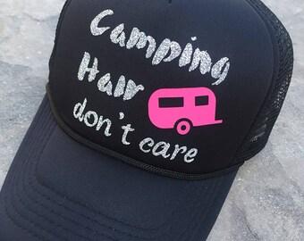 Camping Trucker Hat |  Summer Hat | Camping Trucker Hat | Summer Trucker Hat | Beach Hat | Sand Hat | Momlife Hat | #Momlife | Mom Gift