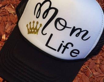 Mom Life Trucker Hat | Mom Life  |  Christmas Gift  |  Mother's Day Gift |  Summer Hat  | Trucker Hat | Bling Hat