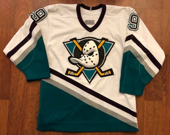 67f1a6d37 Vintage CCM Anaheim Mighty Ducks Paul Kariya 9 Authentic Center Ice Away  Jersey Size 44 Large Fight Strap On Ice Jersey