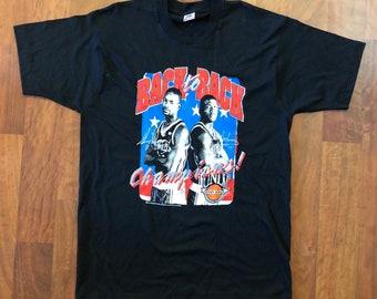 ba448db3e94 Vintage UNLV Running Rebels 1990-1991 National Champions T-shirt Men s Size  XL Larry Johnson Stacey Augmon NCAA