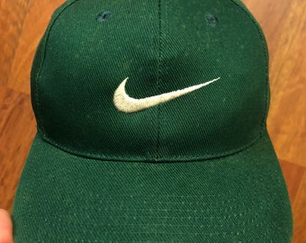 a7a28702c4d72 ... top quality vintage nike snapback hat green white swoosh white tag 90s  nike 91f8e 6312e