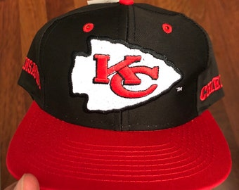 ca2788961ec36 NWT Vintage Kansas City Chiefs Snapback Hat Black Red