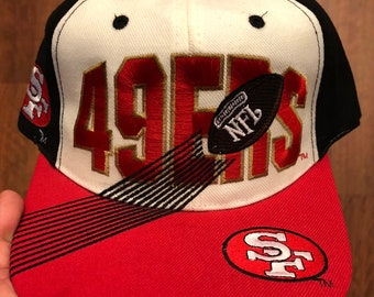 a8852c4a8 Vintage San Francisco 49ers Snapback White Black Red