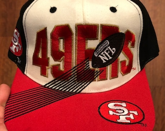 9a91eacd173 Vintage San Francisco 49ers Snapback White Black Red