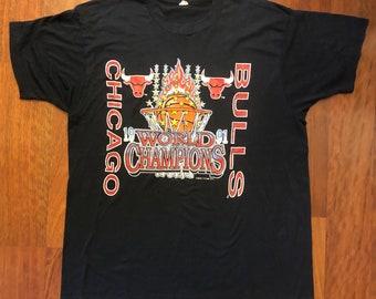 df0809850 Vintage Chicago Bulls 1991 NBA Champions T-shirt Men's Size XL Michael  Jordan Scottie Pippen