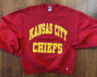 b3907f7be Vintage 1994 Kansas City Chiefs Crewneck Sweatshirt Men s Size Large  Russell Athletics