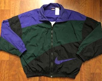17f002149266 Vintage 90s Nike Full Zip Windbreaker Jacket Men s Size Large