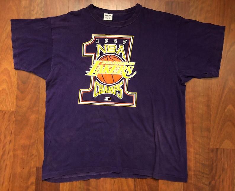 085b348f1ef Vintage Starter Los Angeles Lakers 1987 NBA World Champions