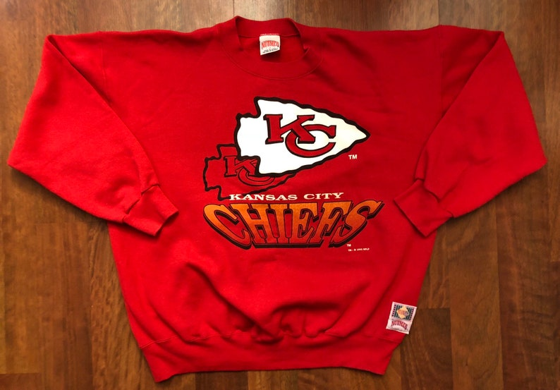 9e66b330 Vintage Kansas City Chiefs Crewneck Sweatshirt Men's Size XL Nutmeg Mills