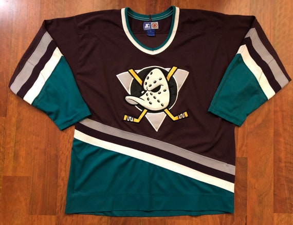 Vintage Starter Anaheim Mighty Ducks Home Jersey Size Large  6ed58d08a