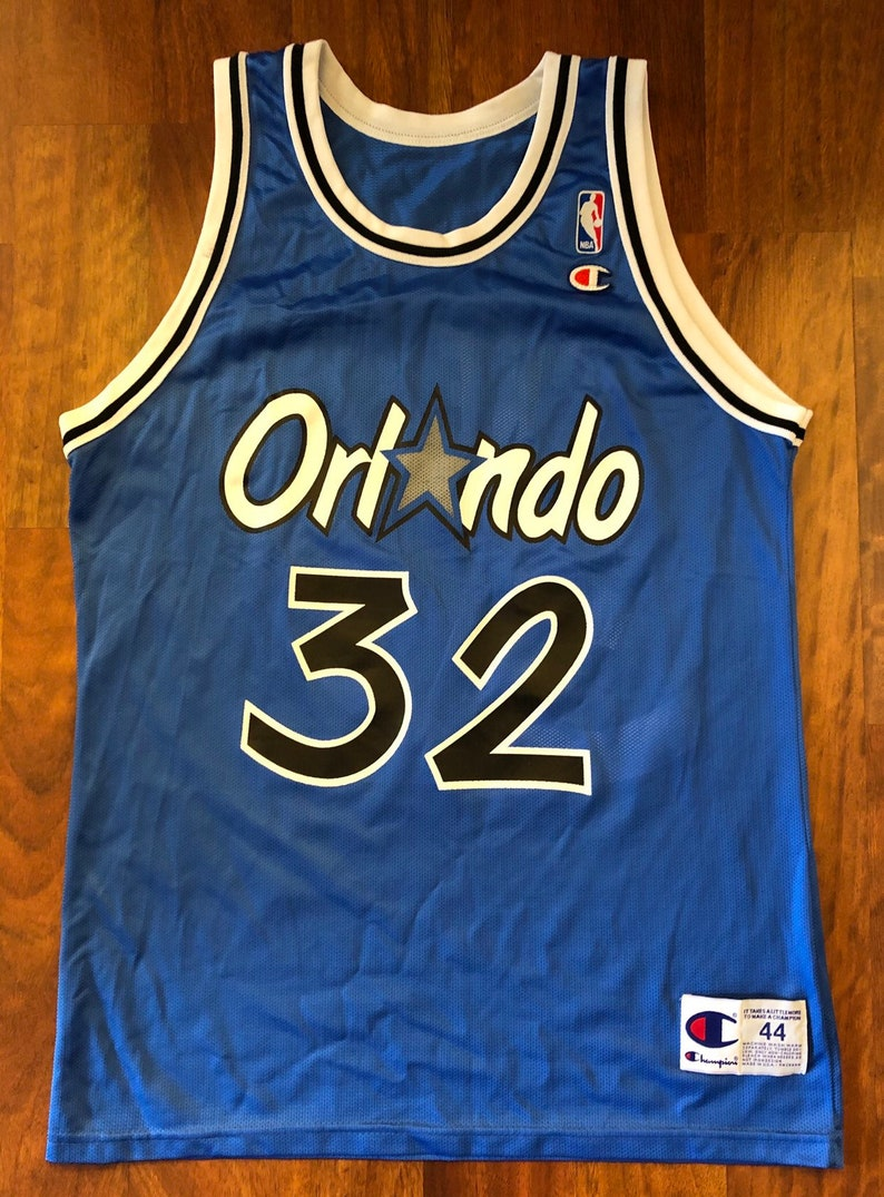 49292b9bf Vintage Champion Orlando Magic Shaquille O neal Jersey