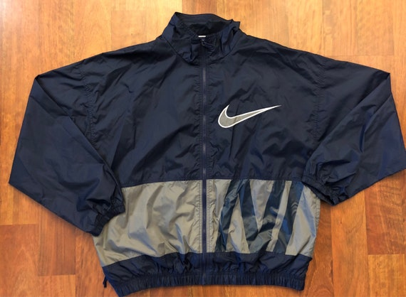 ab6aecbc04a9 Vintage Nike Full Zip Lightweight Windbreaker Jacket Size XL