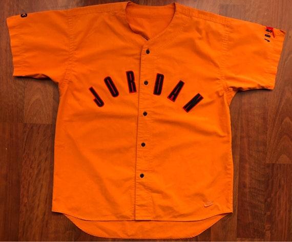 RARE Vintage 90s Nike Jordan Baseball Jersey Size XL 2XL  f9be687552bd