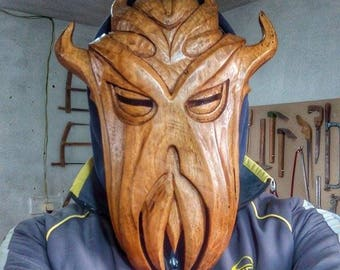 Miraak's Mask Handcarved Out Of Wood