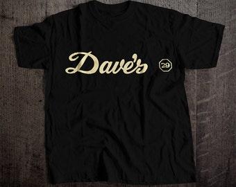 Dave's Bar T-Shirt | Ringspun Unisex and Ladies Fit Tee | Vintage San Francisco Dive Bar Clothing