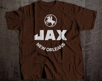 JAX Beer New Orleans T-Shirt | Men's 3XL-6XL Tee | Vintage Bar and Brewery Label Clothing