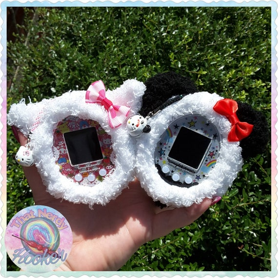 Fluffy Tamagotchi Case with matching charm