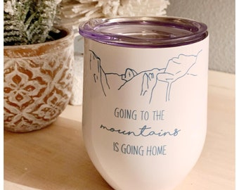 Cute wine tumblers / many designs / insulated stainless steel / mother's day / gift for her / comes with lid / wine lover / wino
