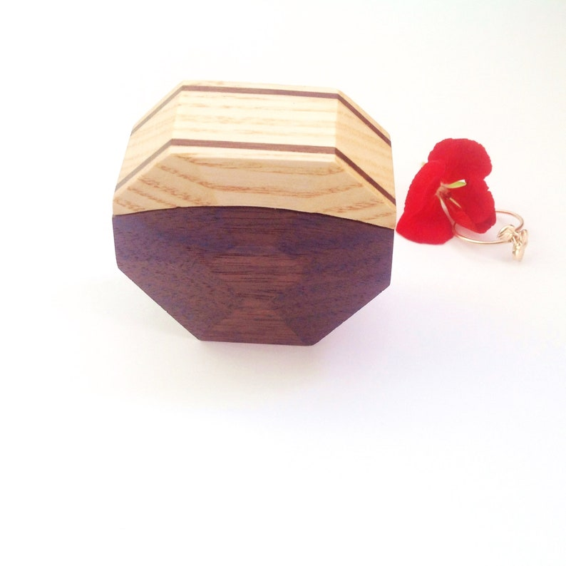 Wood Wedding Ring Box Proposal Ring Box Natural Wooden Engagement Ring Box Diamond Ring Box for Her Ring