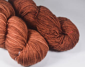 Iron Oxide- Dyed to Order- Hand Dyed Yarn