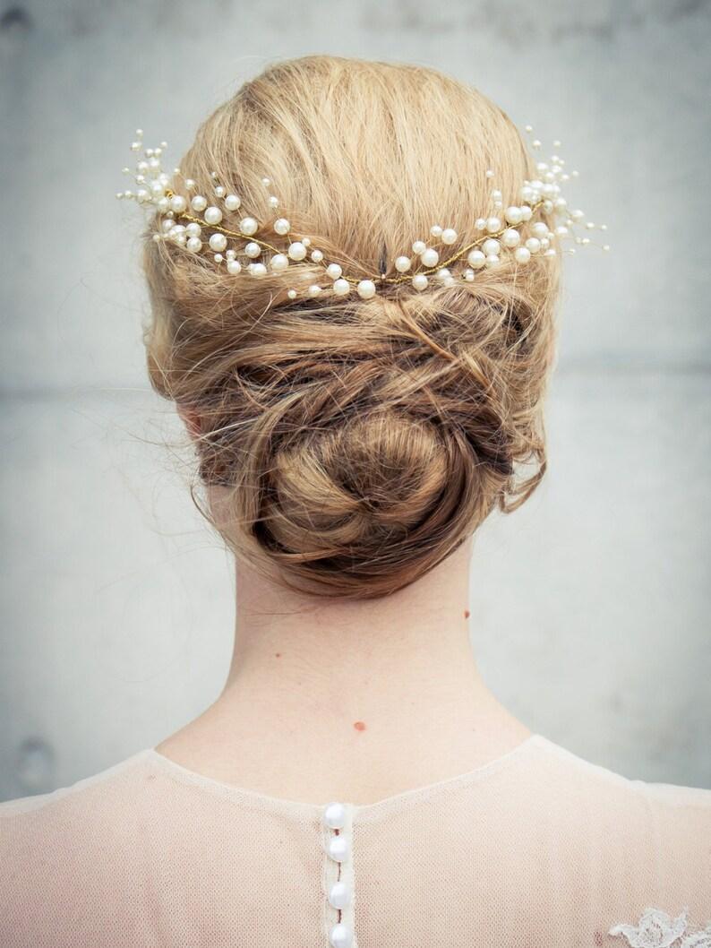 119063c7f5 Leichter   moderner Hochzeit   Braut Haarkranz   Haar Rebe