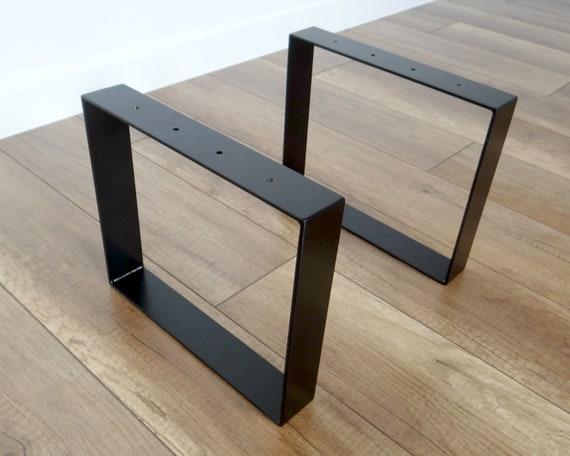 Metal Coffee Table Legs  Industrial Steel Bench Legs (set of 2)  Simple and  Sleek by StaloveStudio  30x41cm