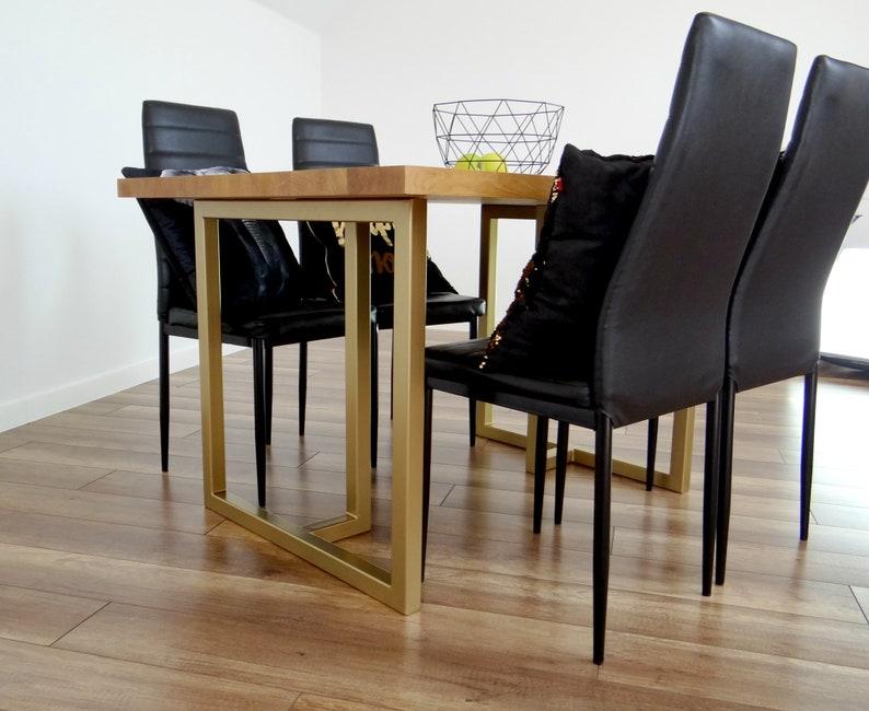 Metal Dining Table Legs 28x28 Set Of 2 Modern Steel Etsy