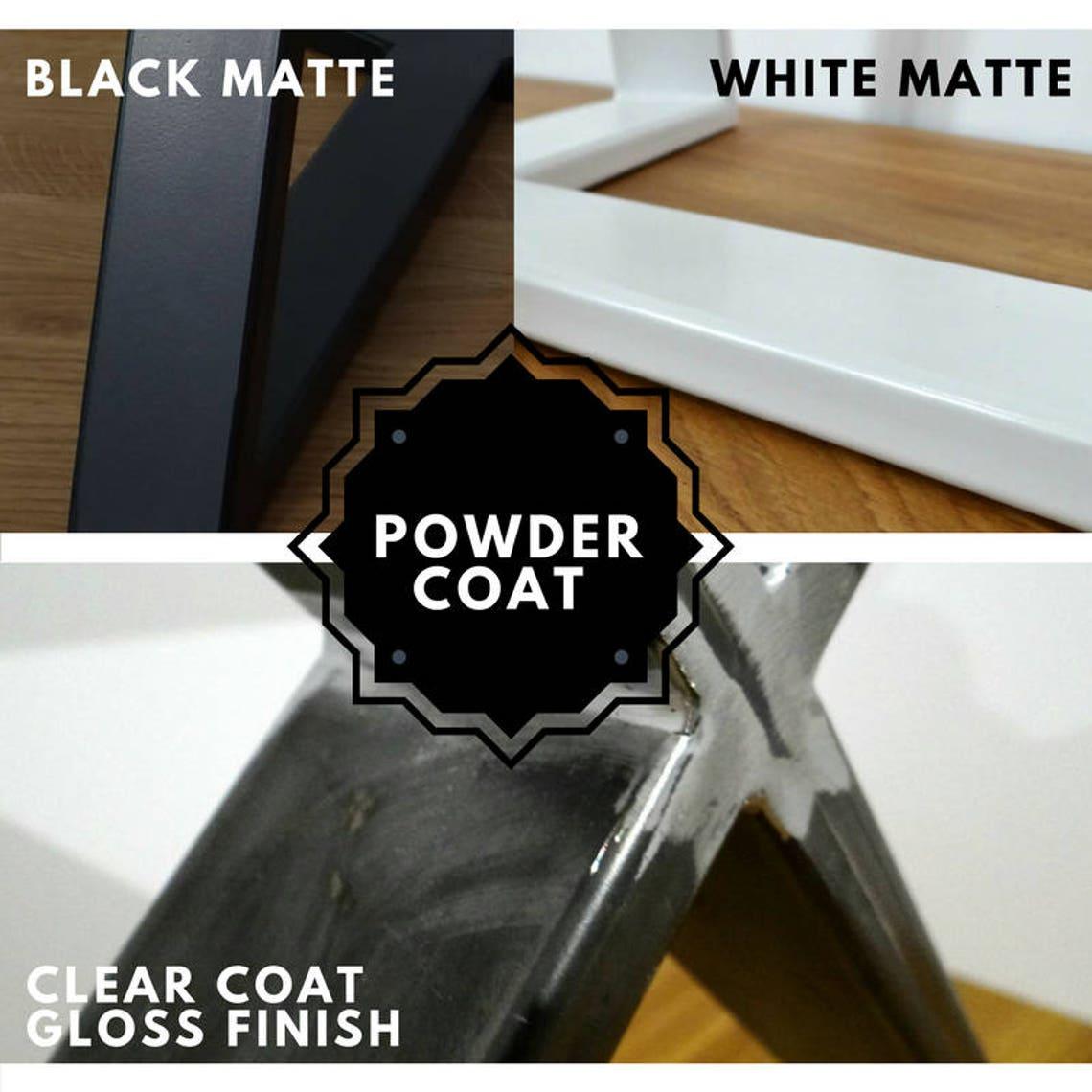 "Metal Coffee Table Legs set(2) 16""x20"", steel side table legs, iron end table legs"