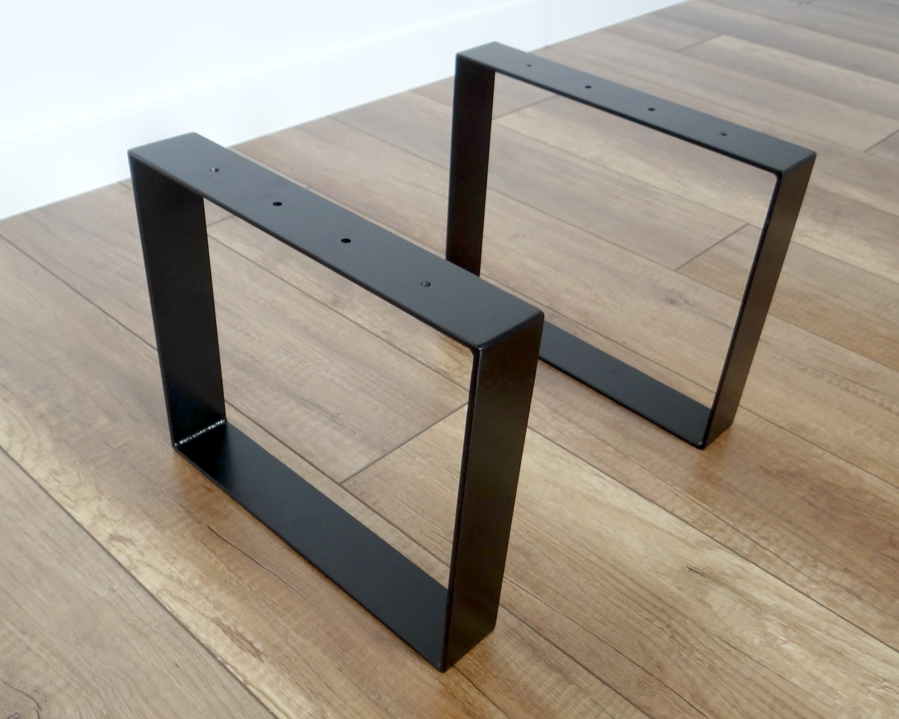 Metal Coffee Table Legs Steel Bench Legs Set Of 2 Simple Etsy