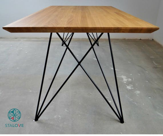 Steel Dining Table Legs (2 legs). Butterfly Metal Hairpin Table Legs for  Kitchen Table.