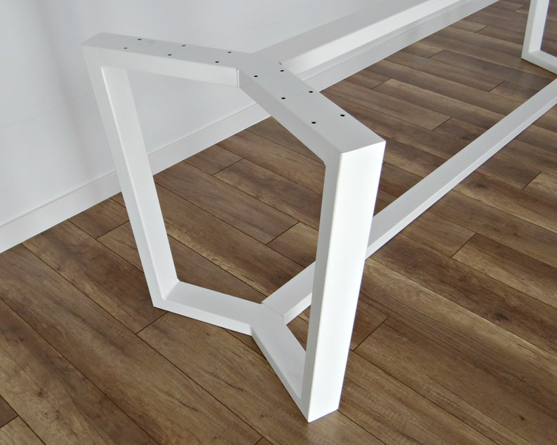 Stahl Esstisch Rahmen Aura 80x40mm Stahl Metall Tischbeine Etsy