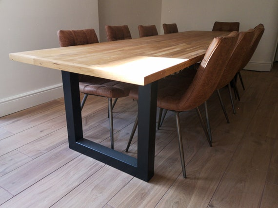 Metal Dining Table Legs Industrial Kitchen Heavy - How To Clean Rusty Metal Table Legs