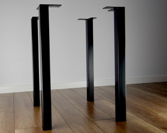 Metal Legs Set of 4. Sturdy steel legs for your table or desk.
