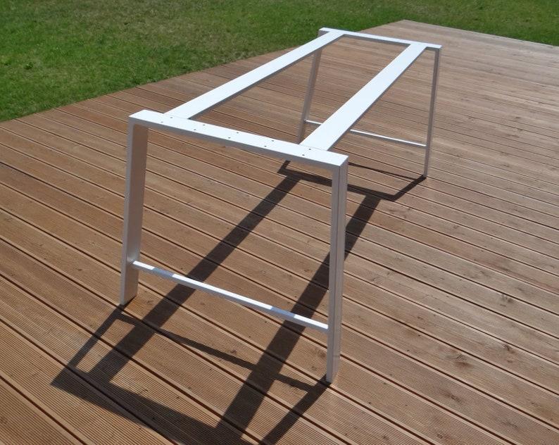 Gambe tavolo da pranzo in metallo per piano di tavolo in marmo e vetro.  Gambe tavolo gambe 80x20mm, gambe del trapezio, tavolo a cavalletto, gambe  del ...