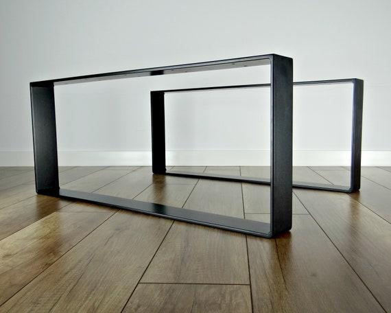 Spiksplinternieuw Metalen salontafel poten. Stalen bijzettafel poten set van   Etsy YH-69