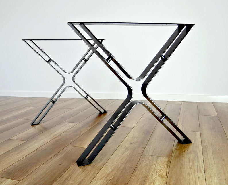 Metal Dining Table Legs (set of 2). Steel Hairpin Table Legs, Industrial  Kitchen Table Legs, Wrought Iron Table Base.